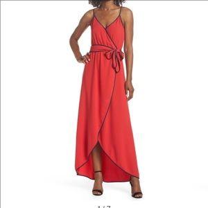 Felicity & Coco Becca Red Faux Wrap Maxi Dress XL